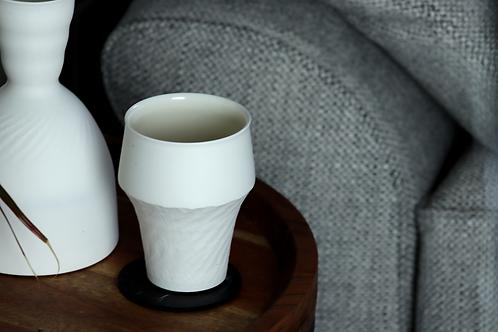 Pre order - Chattered White Porcelain Beaker - 2