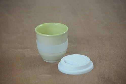 Ceramic Travel Cup - Light green