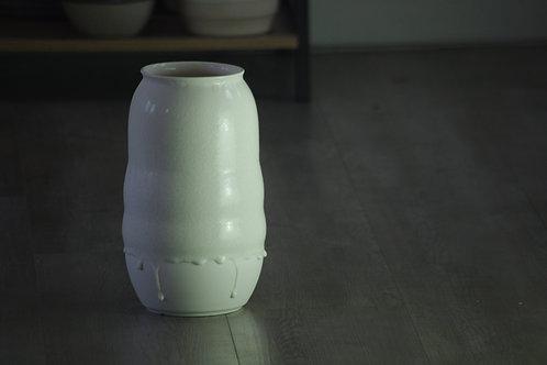 Quad Bubble Porcelain Vase with White glaze
