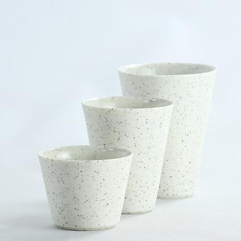 Black fleck Porcelain Beaker - Christmas pre-order