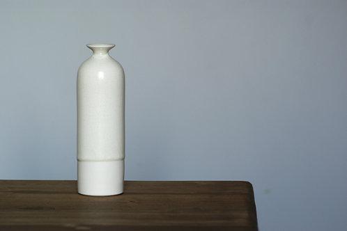 Porcelain bottle vase in white glaze - small