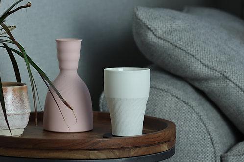 Pre order - Chattered White Porcelain Beaker