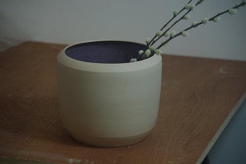 GESTALT VASE - Natural/Smokey Purple