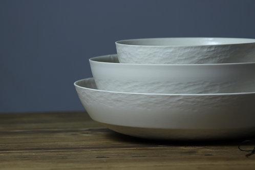 Chattered Porcelain bowl trio