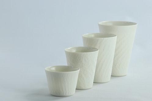 Chattered White Porcelain Beaker