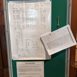 Churchyard Plan now displayed in the Church
