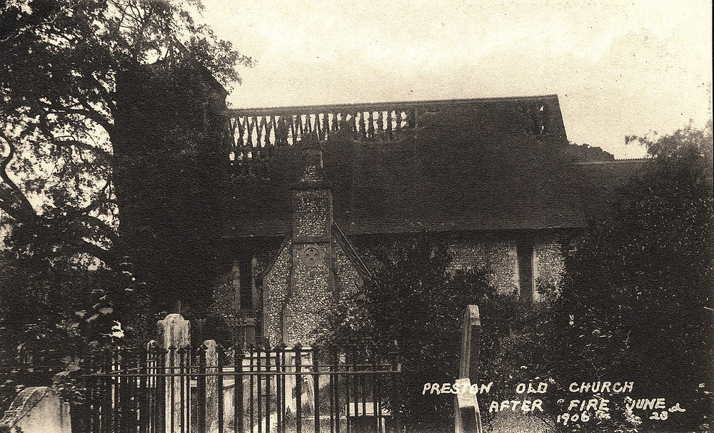 Preston Old Church after fire, June 23 1906 (Royal Pavilion & Museums, Brighton & Hove)