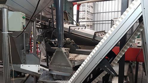 Machine cracked walnut process