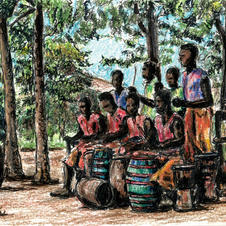 boys playing drums at Sheenway