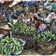 market with lettuce