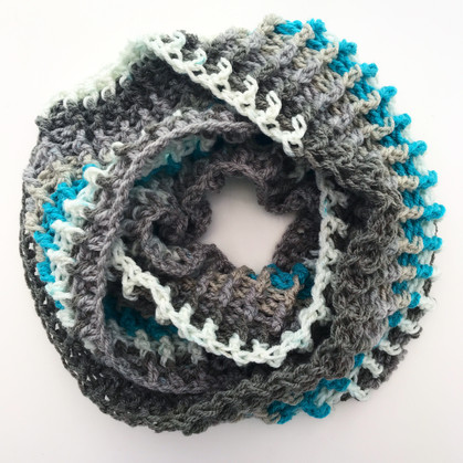 Ribbed Cowl Pattern (One Skein Caron Cake)