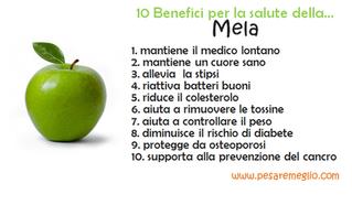 10 Benefici per la salute della...mela.