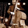 Jules Jackson playing double bass