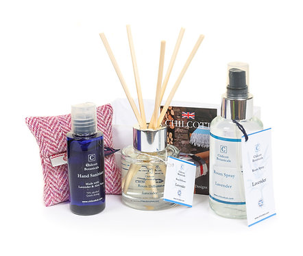 Diffuser and Room Spray Luxury Harris Tweed Gift Set : Lavender.
