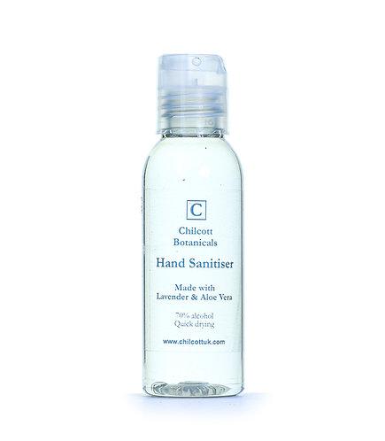 Hand Sanitiser : Lavender, 50ml clear bottle..