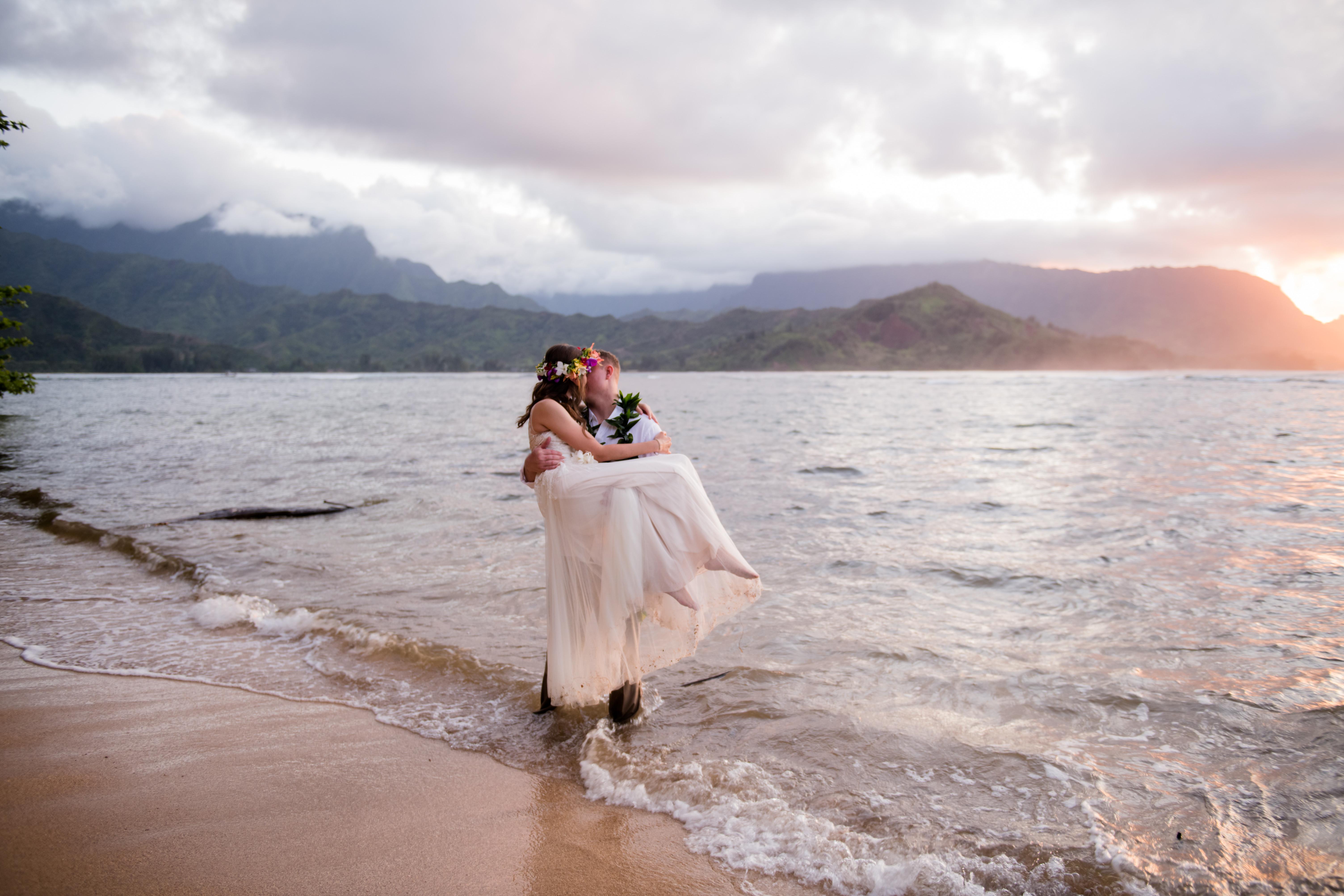 1/2 day of Kauai Wedding Photography