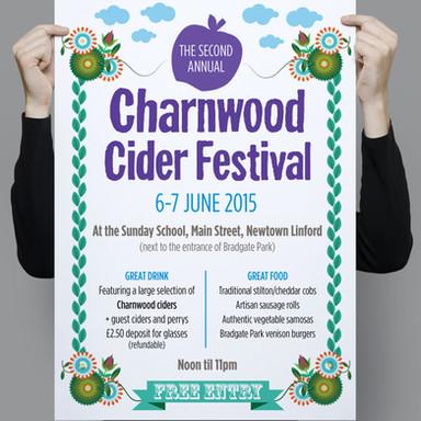 Charnwood Cider Festival Event Branding