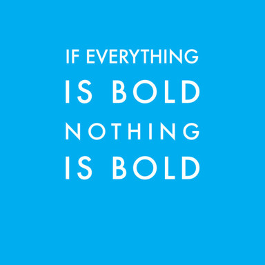 Everything Is Bold Poster