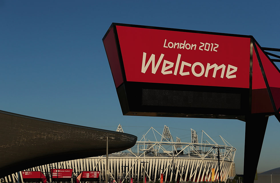 Olympic Park London 2012 Welcome Sign