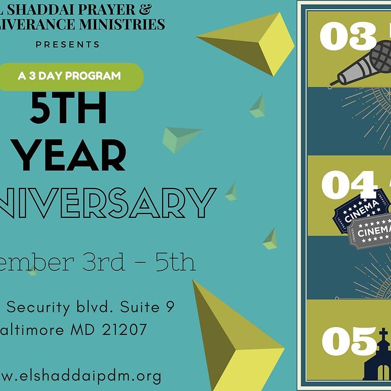5th Anniversary Program