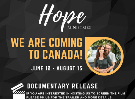 We are coming to Canada!