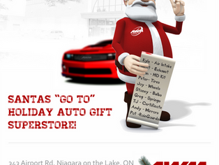 We have you last minute shoppers covered! Happy Holidays Niagara!