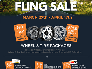 AWM SPRING FLING ON NOW