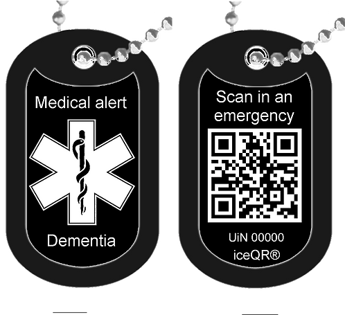 Dog Tag Double sided iceQR & Medical condition