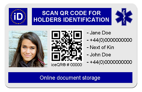 iD card and document storage