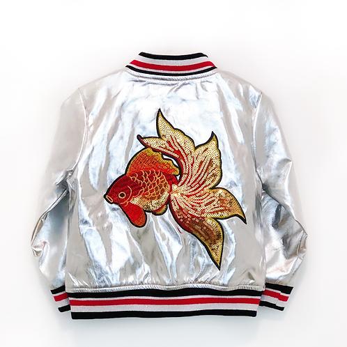 Doe a Dear Coy Fish Shiny Bomber Jacket