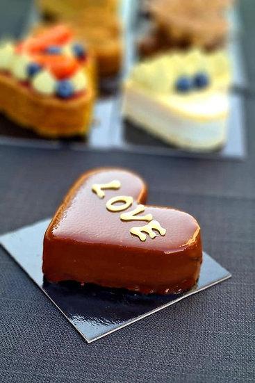 לב מוס שוקולד