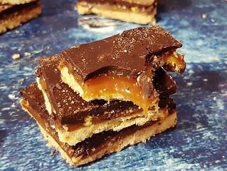 עוגיות לוז, קרמל ושוקלד מריר