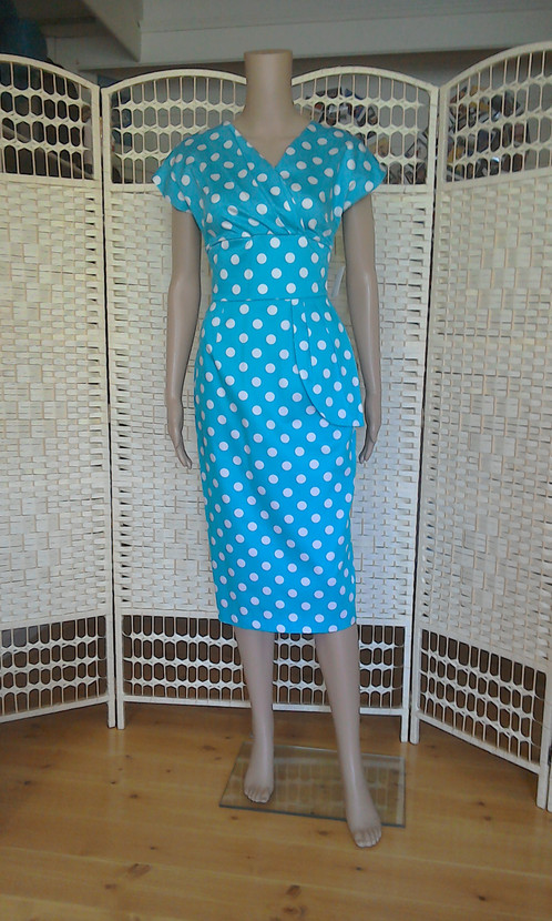 c1dae15202 Vivien of Holloway 1950 s style Jezebel peplum dress .