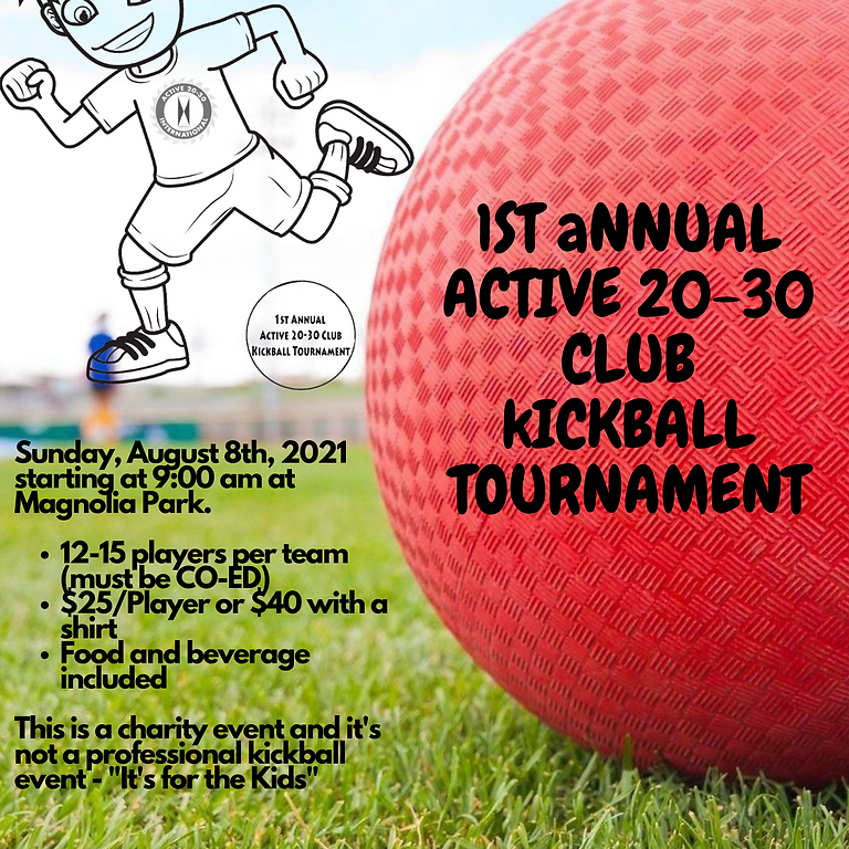Active 20-30 Kickball Tournament