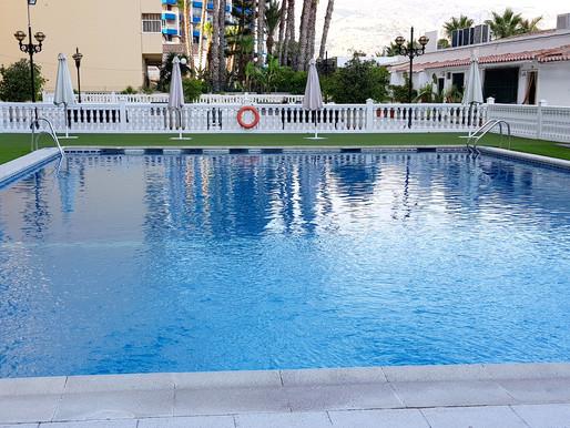 Neuer Pool für die Strandwohnungen Velilla Beach II