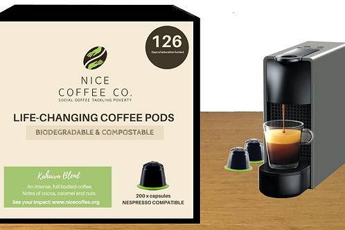 Nespresso Compatible Coffee Pods (200 Pack - 70c/pod)