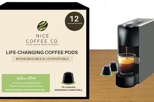 Box of 10 - Biodegradable Coffee Pod (Nespresso Compatible)