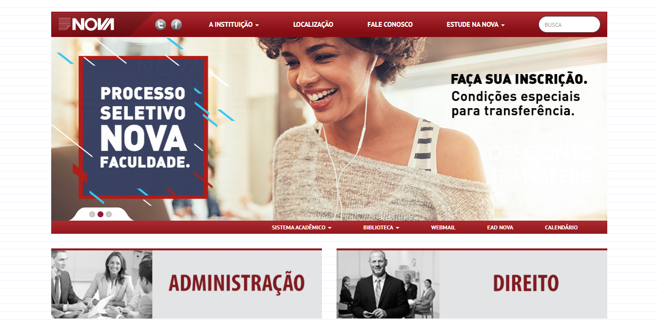 Nova Faculdade Website
