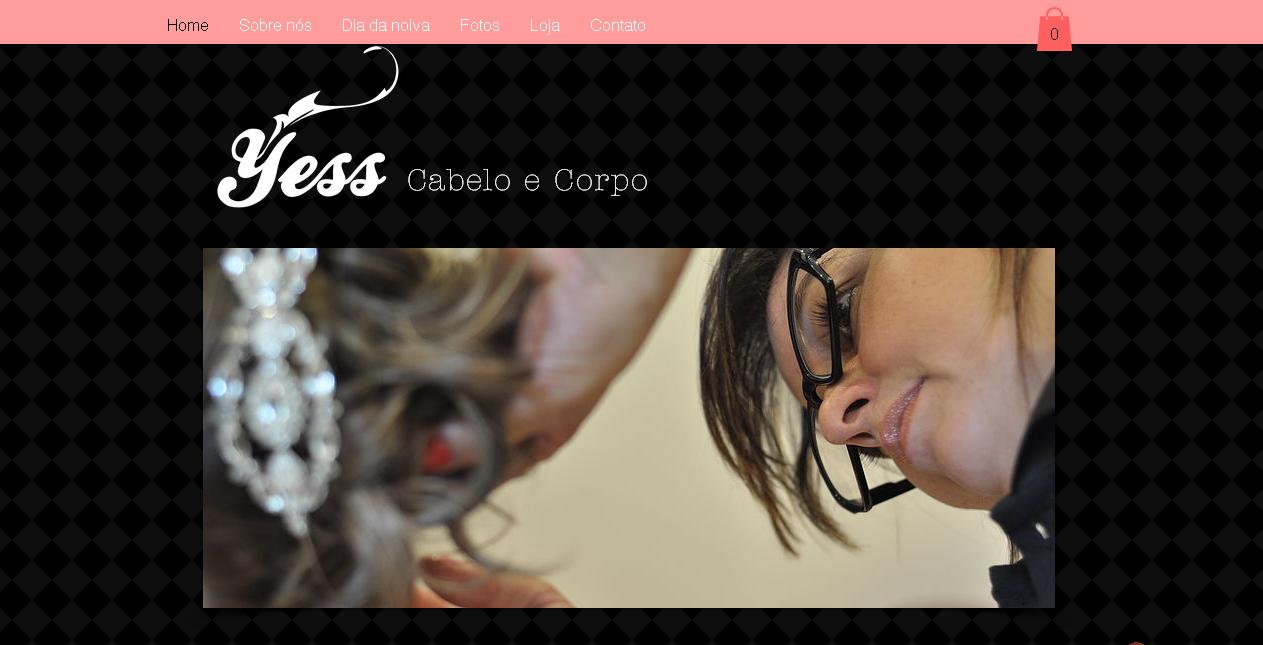 WebSite e loja virtual Yess Cabelo e Corpo