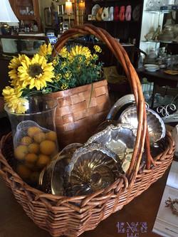 150727 Silver - Basket - Flowers
