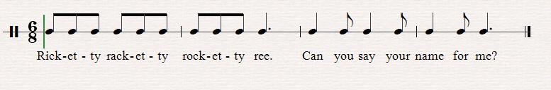 Ricketty Racketty Sheet Music