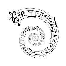 Sheet music spiral