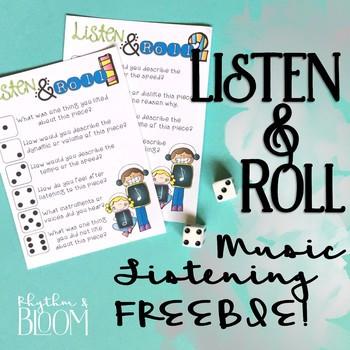 Listen & Roll freebie