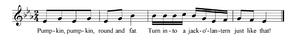 Pumpkin, Pumpkin sheet music