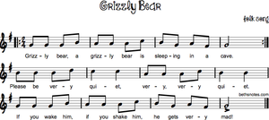 Grizzly Bear Sheet Music