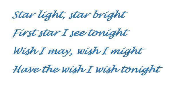 Starlight star bright poem