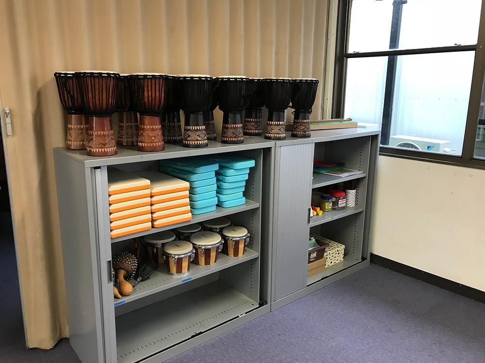 Percussion shelf
