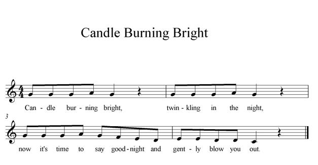 Candle Burning Bright sheet music