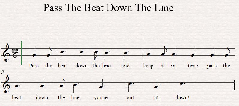 Pass The Beat sheet music