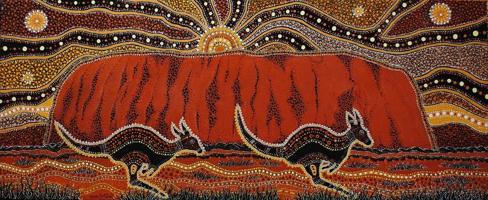 Uluru painting - Danny Eastwood